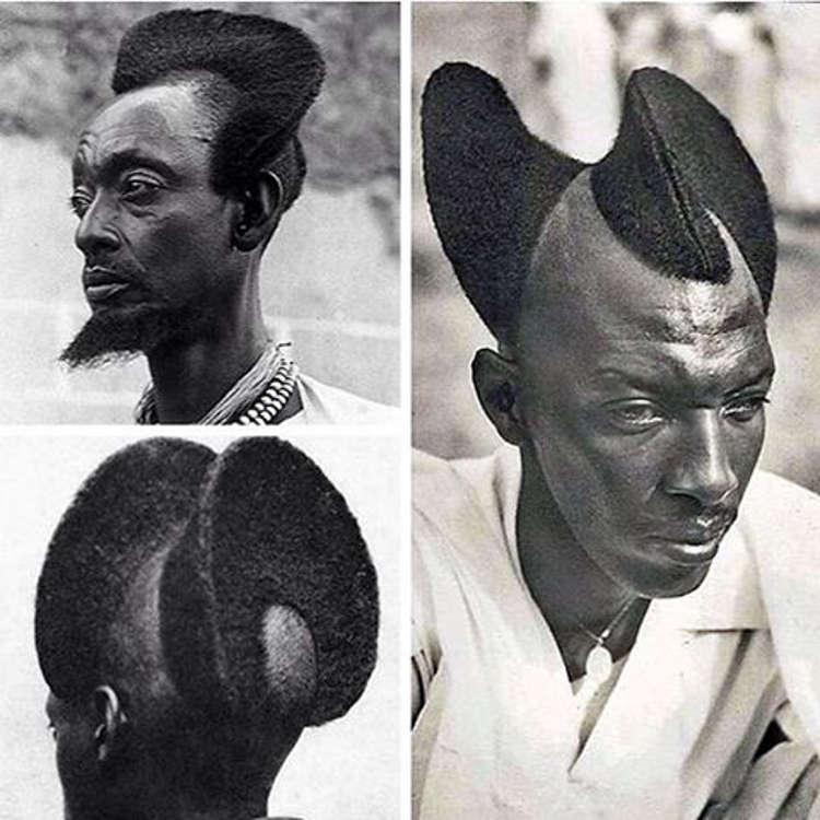 Afrykańska Fryzura Amasunzu Początek Xx Wieku