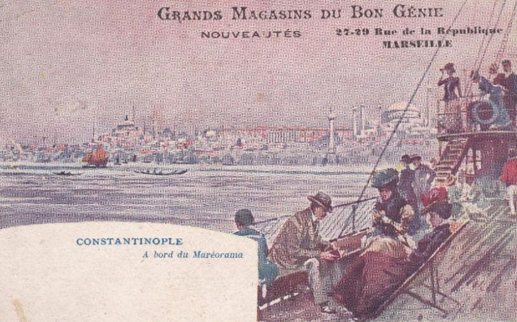 Kartka pocztowa Mareoramy pokazująca Konstantynopol